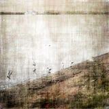 Alter Landschaftshintergrund lizenzfreie abbildung