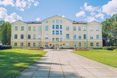 Alter Landsitz bei Lettland, Stadt Priekuli lizenzfreie stockbilder