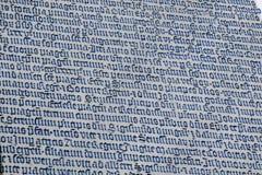 Alter lateinischer Text im Stein Lizenzfreie Stockbilder