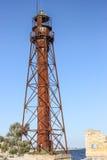 Alter Leuchtturm auf der unbewohnten Insel Lizenzfreies Stockfoto