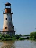 Alter Leuchtturm im Donau-Dreieck stockfotos