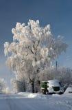 Alter LKW im Winter Lizenzfreie Stockbilder