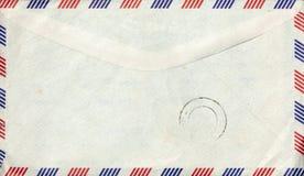 Alter Luftpostumschlag mit Stempel Stockbild