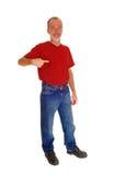 Alter Mann, der auf zeigt Stockbilder