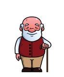 Alter Mann, der einen Stock hält Lizenzfreies Stockbild