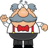 alter Mann der Karikatur mit dem Schnurrbart vektor abbildung