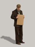 Alter Mann-Holding-Zeichen 3 Stockfotografie