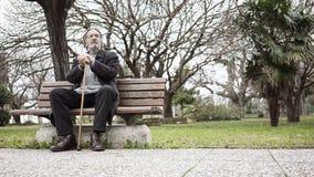 Alter Mann im Park stockfotografie