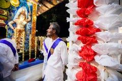 Alter Mann in Kandy Esala Perahera Lizenzfreie Stockbilder