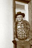 Alter Mann-Landwirt Stockbild