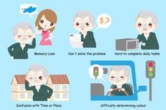 Alter Mann mit Alzheimer vektor abbildung