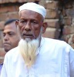 Alter Mann mit weißem Bart Stockfoto