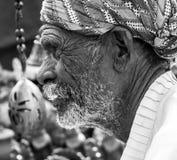 Alter Mann Rajasthani stockbilder