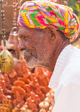 Alter Mann Rajasthani lizenzfreies stockfoto
