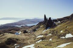Alter Mann von Storr, Insel von Skye, Schottland lizenzfreie stockfotografie