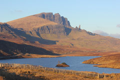Alter Mann von Storr, Skye, Schottland Lizenzfreie Stockfotos