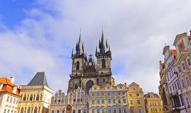 Alter Marktplatz in Prag Lizenzfreies Stockbild