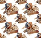 Alter Maurer bearbeitet nahtlosen Hintergrund Stockfotos
