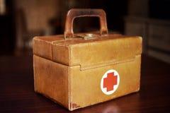 Alter medizinischer Beutel Stockfotos