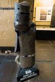 Alter Melbourne-Gaol - Ned Kelly-Rüstung Stockfotografie