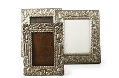 Alter metallischer Fotorahmen Stockfoto