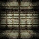 Alter metallischer Innenraum. stockbilder