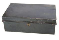 Alter Metallkasten stockfoto