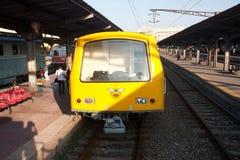 Alter Metrozug - Bukarest Stockfoto