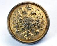 Alter Militärknopf von Österreich-Ungarn Lizenzfreies Stockfoto