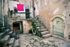 Alter Mittelmeerwinkel lizenzfreie stockfotos