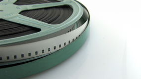 Alter 8mm Film im Kanister stock video footage