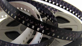 Alter 8mm Film im Kanister stock footage