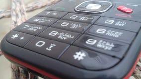 Alter mobiler Knopf stockbild