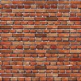Alter nahtloser Hintergrund der Wand des roten Backsteins. Lizenzfreies Stockfoto