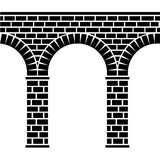 Alter nahtloser Steinbrücke Viaductaquädukt Lizenzfreies Stockfoto