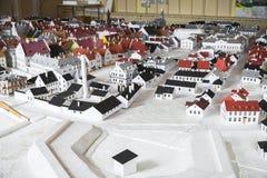 Alter Narva-Stadtplan gemacht vom Papier Stockbild