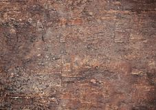 Alter natürlicher hölzerner brauner schäbiger Hintergrund Alte Beschaffenheit der Barke Stockfoto