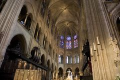 Alter of Notre Dame Cathedral, Paris Stock Photo