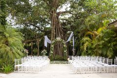 Alter for outdoor wedding Royalty Free Stock Photography