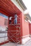 Alter Palast, der repariert wird Lizenzfreies Stockbild