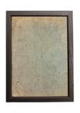 Alter Papierbeschaffenheitshintergrund im Holzrahmen Lizenzfreies Stockbild