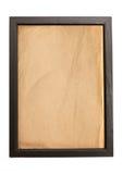 Alter Papierbeschaffenheitshintergrund im Holzrahmen Stockbilder