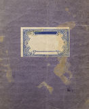 Alter Papierbeschaffenheitshintergrund mit blauen Verzierungen Lizenzfreie Stockfotografie