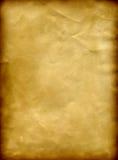 Alter Papiergrunge Hintergrund mit einem gebrannten Feld Lizenzfreies Stockbild