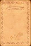 Alter Papierhintergrund mit altmodischer dekorativer Grenze Stockfoto