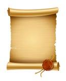 Alter Papierindex mit Stempel stock abbildung