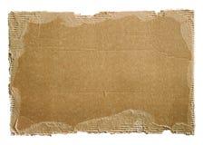 Alter Pappschrott auf Weiß Stockbilder