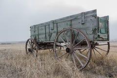 Alter Pferdenwagen stockbild
