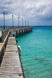 Alter Pier in Barbados Lizenzfreie Stockfotografie