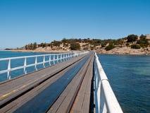 Alter Pier an der Granit-Insel und am Sieger-Hafen Lizenzfreies Stockbild